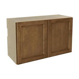 30-in x 18-in Mocha Swirl Upper Cabinet with Doors