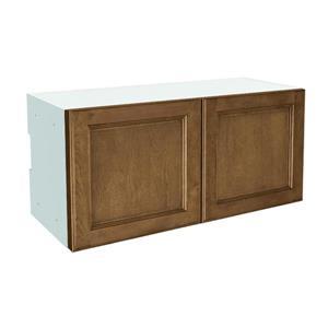 30-in x 14-in Mocha Swirl Upper Cabinet with Doors