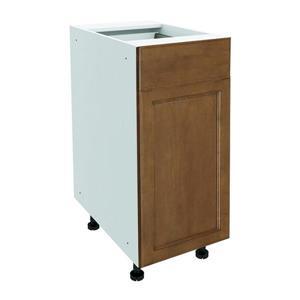 15-in x 30-in Mocha Swirl Base Cabinet with Door