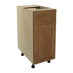 15-in x 30-in Mocha Swirl Base Cabinet with Door