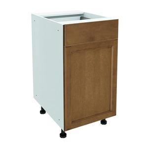 18-in x 30-in Mocha Swirl Base Cabinet with Door
