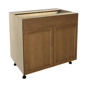 36-in x 30-in Mocha Swirl Base Cabinet with Doors