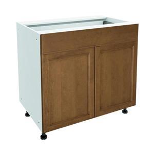 36-in x 30-in Mocha Swirl Base Cabinet with Doors | Lowe's ...