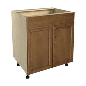 30-in x 30-in Mocha Swirl Sink Cabinet with Doors