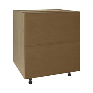 30-in x 30-in Mocha Swirl 2-Drawer Chest with Drawer Fronts