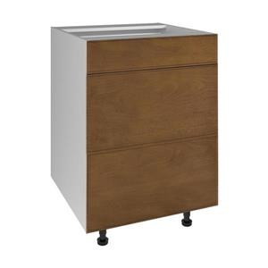 24-in x 30-in Mocha Swirl 3-Drawer Chest with Drawer Fronts