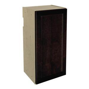 15-in x 30-in Brownstone Beat Upper Cabinet with Door