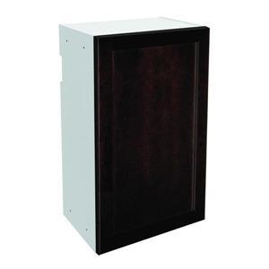 18-in x 30-in Brownstone Beat Upper Cabinet with Door