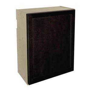 24-in x 30-in Brownstone Beat Upper Cabinet with Door