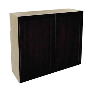 36-in x 30-in Brownstone Beat Upper Cabinet with Doors