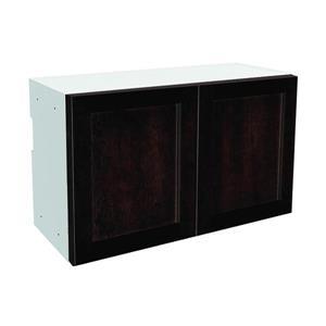 30-in x 18-in Brownstone Beat Upper Cabinet with Doors