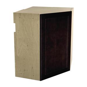 24-in x 30-in Brownstone Beat Upper Corner Cabinet with Door