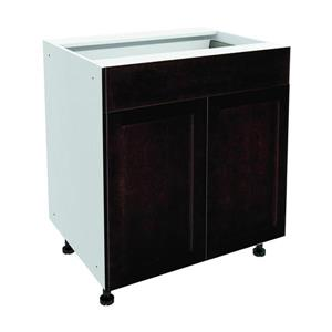 30-in x 30-in Brownstone Beat Base Cabinet with Doors