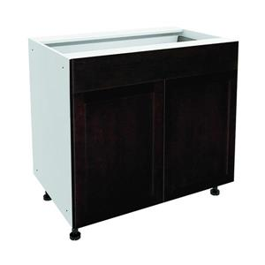 36-in x 30-in Brownstone Beat Base Cabinet with Doors