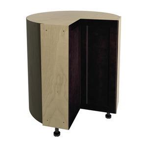 36-in x 30-in Brownstone Beat Corner Cabinet with Doors