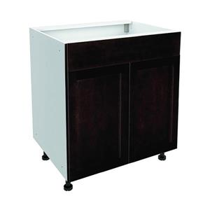 30-in x 30-in Brownstone Beat Sink Cabinet with Doors