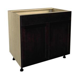 36-in x 30-in Brownstone Beat Sink Cabinet with Doors