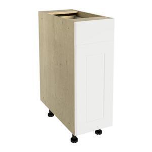 12-in x 30-in Vanilla Shake Base Cabinet with Door