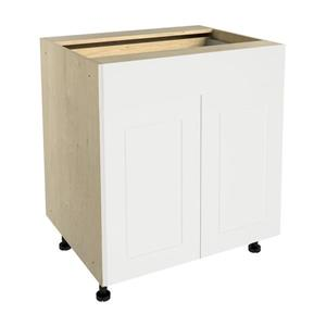 30-in x 30-in Vanilla Shake Base Cabinet with Doors