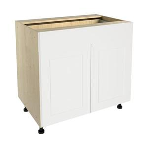 36-in x 30-in Vanilla Shake Base Cabinet with Doors