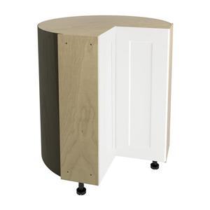36-in x 30-in Vanilla Shake Corner Cabinet with Doors