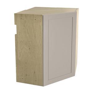 24-in x 30-in Sea Salt Upper Corner Cabinet with Door