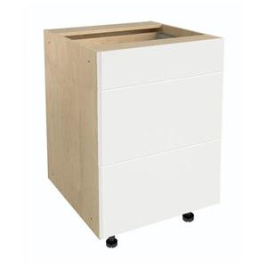 24-in x 30-in Milk Mustache 3-Drawer Chest with Drawer Fronts