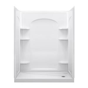 Ensemble 32-in x 60-in White Vikrell® Alcove Shower Kit
