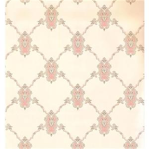 York Wallcoverings Trellis Traditional Wallpaper - Light Yellow