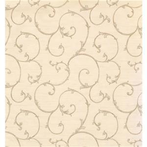 York Wallcoverings Trellis Traditional Wallpaper - Cream