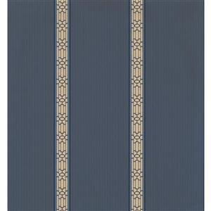York Wallcoverings Stripes Modern Wallpaper - Blue