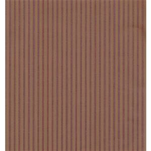 York Wallcoverings Stripes Modern Wallpaper - Beige/Bordo