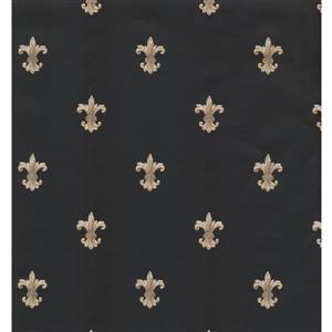York Wallcoverings Paisley Modern Wallpaper - Black/Beige