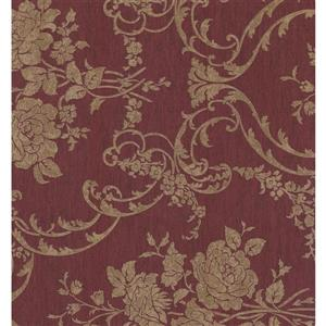 York Wallcoverings Paisley Modern Wallpaper - Beige