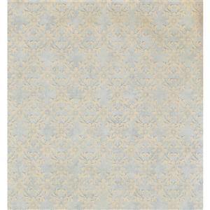 York Wallcoverings Paisley Modern Wallpaper - Cream/Blue