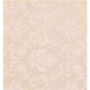 York Wallcoverings Paisley Modern Wallpaper - Cream