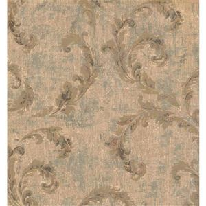 York Wallcoverings Paisley Modern Wallpaper - Beige