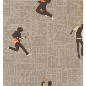 York Wallcoverings Kids Wallpaper for Boys and Girls - Beige