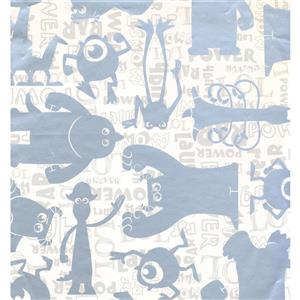 York Wallcoverings Kids Wallpaper for Boys and Girls - Cream/Grey