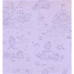 York Wallcoverings Kids Wallpaper for Boys and Girls - Violet