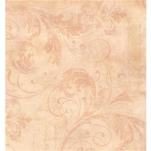 York Wallcoverings Floral Colourful Wallpaper - Bordo