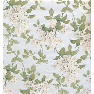 York Wallcoverings Floral Colourful Wallpaper - Blue/Green