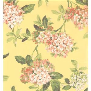 York Wallcoverings Floral Colourful Wallpaper - Green