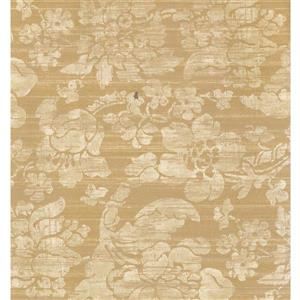 York Wallcoverings Floral Colourful Wallpaper - Biege