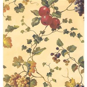 York Wallcoverings Floral Colourful Wallpaper - Yellow/Green