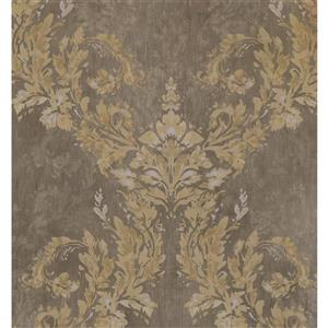 York Wallcoverings Damask Traditional Wallpaper - Beige/Brown