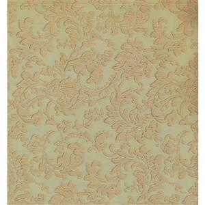 York Wallcoverings Damask Traditional Wallpaper - Beige/Green