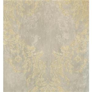 York Wallcoverings Damask Traditional Wallpaper - Beige/Grey