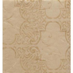 York Wallcoverings Damask Traditional Wallpaper - Beige