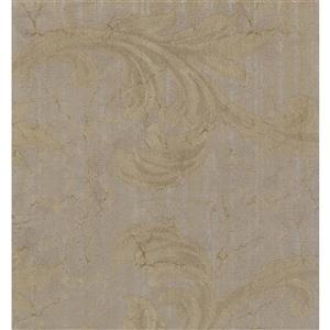 York Wallcoverings Damask Traditional Wallpaper - Cream/Beige